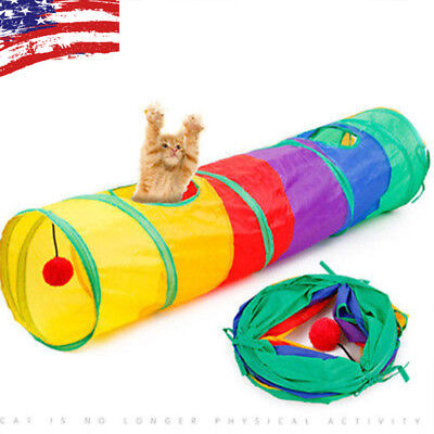 Funny Tunnel Tent Agility Cat Training Folding Pet Agility For Training Play A4