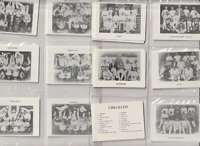 Cigarette / Tea Cards Sidelines 19Th C Cricket Teams Set Of 22 From Collection