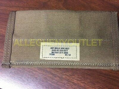 Genuine Military USMC ADP MOLLE Dive Belt Adapter Panel Coyote Brown BRAND NEW