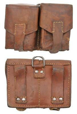 Mauser Two-Pocket Leather Ammo Pouch, Yugoslavian Issue