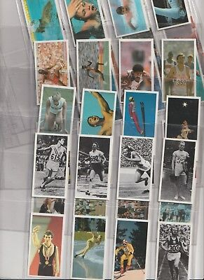 Cigarette / Tea Cards Brooke Bond Olympic Challenge 92 Set Of 40 From Collection