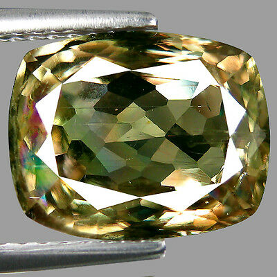 5.36 ct IGL CERTIFIED LUSTROUS NATURAL EARTH MINED BROWNISH GREEN  DIASPORE GEM!