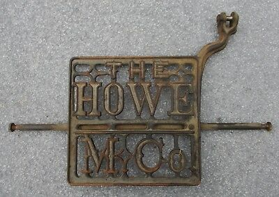 Antique The Howe Treadle Sewing Machine Cast Iron Foot Pedal Steam Punk