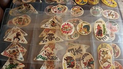 65 Cox International Martial Arts Fabric Stickers In Plastic Sleeves