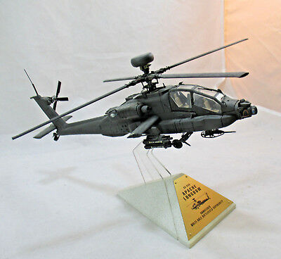 Franklin Mint Apache Longbow AH-64D Iron Frame Helicopter 1:48 Scale With Box