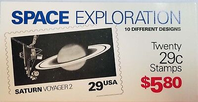 BK192 Space Exploration $5.80 Booklet of 20 29c Stamps