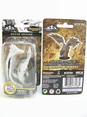 WZK73186 - Pathfinder Battles Deep Cuts - Unpainted Silver Dragon