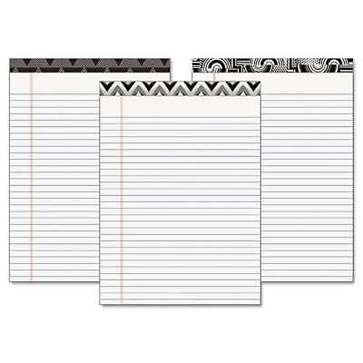 TOPS Fashion Legal Pads with Assorted Headtapes, 8 1/2 x 11, 50  025932304934