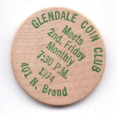 Glendale Coin Shop-1974-401 N.brand-Wooden Nickelgreen-One 1/2 Inches Width