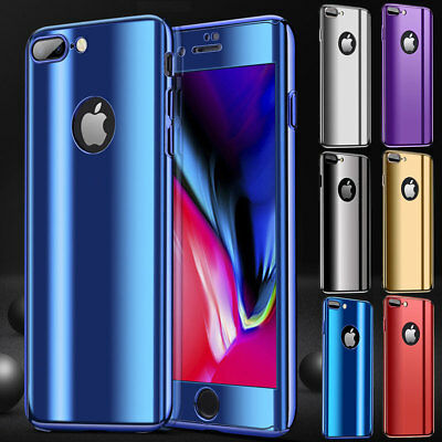 Luxury Shockproof with Screen Protector Case Cover For iPhone X 8 7 6 6S Plus 5S