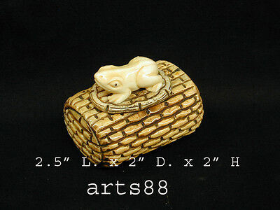 Hand Carved Frog Long Box # 2