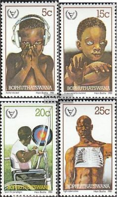 Bophuthatswana 68-71 (complete.issue.) unmounted mint / never hinged 1981 Disabl