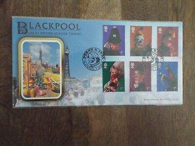 Great Britain First Day Covers - Benham Silk 2001 Punch & Judy Blackpool