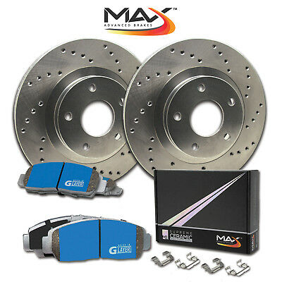 2010 Volvo XC70 w/Rear Solid Rotor Cross Drilled Rotors M1 Ceramic Pads R
