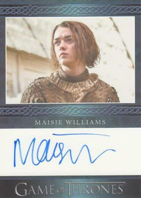 Game of Thrones Season 6 Blue Bordered Autograph Card - Maisie Williams