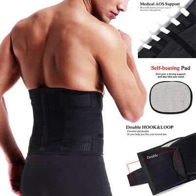 Medical Heat Back Support Pain Relief Lower Lumbar Brace Belt Strap Therapy Pull