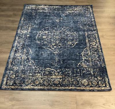~ Vintage Distressed Persian Loom Woven 5 x 7 Area Rug Renaissance NEW