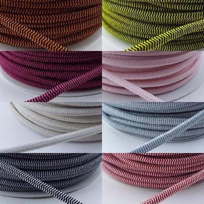 8 COLOUR QUALITY 5mm Round Cord Elastic Extra Thick Coat Clothes Buy 1 2 4m