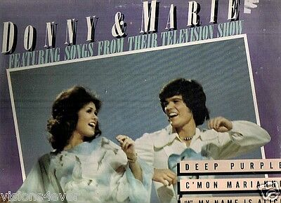 1976 Donny & Marie Osmond Songs From Their Television Show Lp Rare