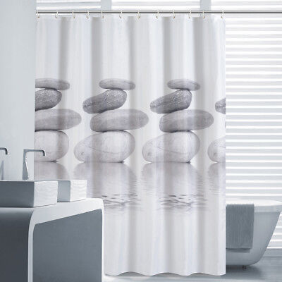 A97 Stone Waterproof Mould Proof Bathroom Partition Shower Curtain 180X180CM Z