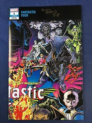 Fantastic Four #1 (2018 Marvel) Variant signed Arthur Adams No Reserve