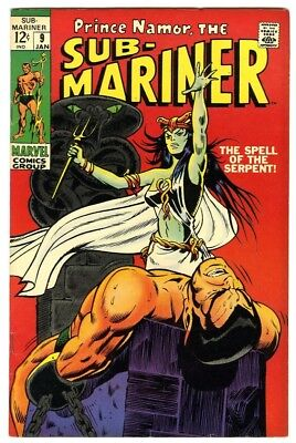 Sub-Mariner #9 (1968) VF- New Marvel Silver Bronze Collection