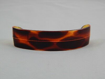 Vintage Art Deco  Faux Tortoise Shell Hair Clip Barrette Made In France
