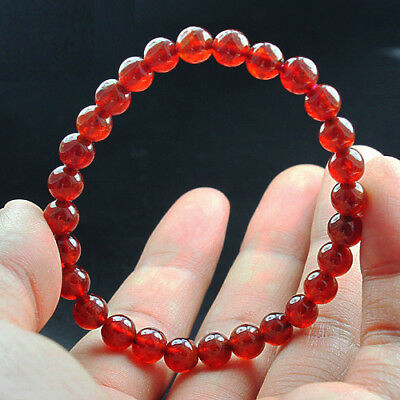 79.55Ct 100% Natural Manderin Orange Garnet Spessartine Bead Bracelet CGXs389