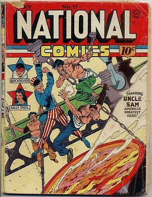 National Comics 11 FR/GD 1.5 1941 Quality, Quicksilver, Crandall / Lou Fine art!