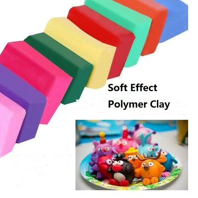 DIY Colorful Fimo Effect Polymer Clay Blocks Modelling Plasticine For baby