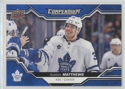 Toronto Maple Leafs 2018-19 Upper Deck Compendium Blue Parallel Card Team Set