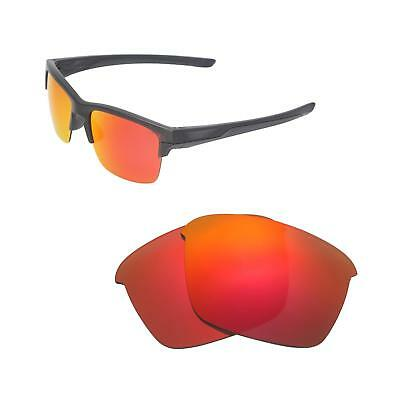 6a6d2cd42e New Walleva Fire Red Polarized Replacement Lenses For Oakley Thinlink  Sunglasses