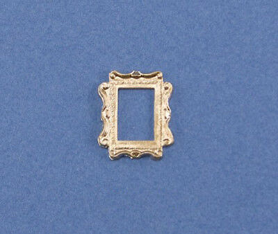 1:12 Scale Dollhouse Miniature Small Fancy Gold Picture Frame #HCX50