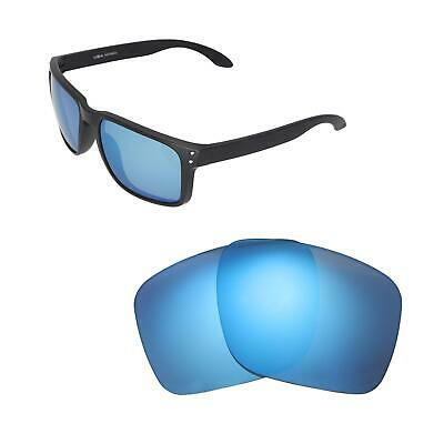 56d7dad6b1 Walleva Ice Blue Polarized Replacement Lenses For Oakley Holbrook XL  Sunglasses
