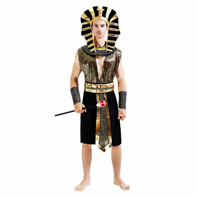 Men's Egyptian Pharaoh Dress Up Costume Cosplay Halloween Party Suit