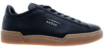 GHOUD Venice Chaussures Hommes Sneakers Man Low Leather Black Logo White  Italy 231825b0ad3