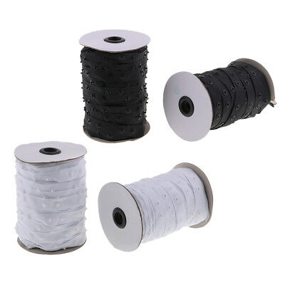 50 Yards Snap Popper Tape Fasten Sew Ribbon Invisible for Duvet Pillow Cover
