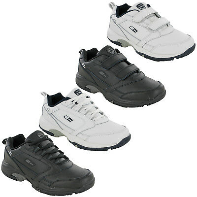 DEK Mens Casual Leather Trainers Lightweight Touch & Lace Fasten Sports Shoes