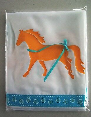 Palomino Horse White Shower Curtain w/ Gold horses and daisy ribbons SALE