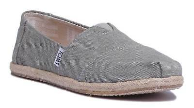 Toms Classic Slip On Womens Beige Canvas Trainer Size UK 3 - 8
