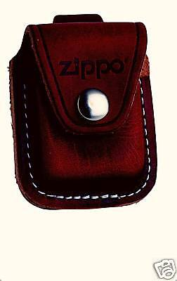 Zippo Leather Bag, Holster with Belt Loop Brown