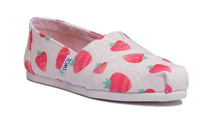 Toms Classic Print Womens Cream Canvas Espadrilles Slip On Shoes UK Size 3 - 8