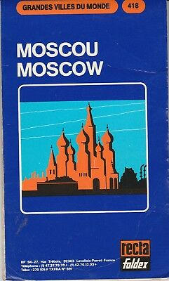 Vintage Street Map of Moscow, Russia