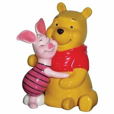 Westland Pooh and Piglet Hugging 3-3/4-Inch Magnetic Salt and Pepper Shakers