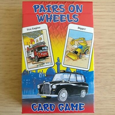 NEW SEALED PACK - PAIRS ON WHEELS - CARD GAME - Children's Cards Games Set