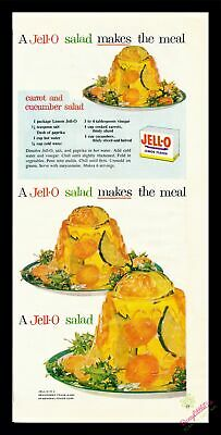 1954 Vintage Print Ad~Jell-O~Carrot and Cucumber Salad Recipe~J500