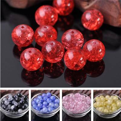 12mm Czech Charms Crystal Glass Cracked Loose Spacer Round Beads Craft Making