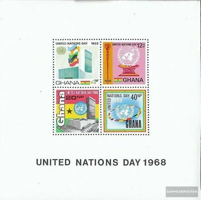 Ghana block34 (complete.issue.) unmounted mint / never hinged 1969 UN
