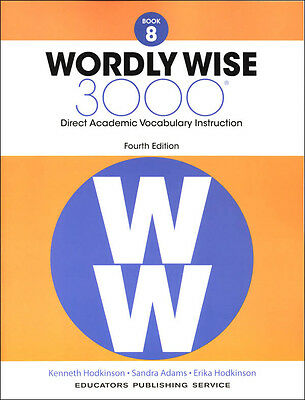 4TH EDITION Wordly Wise 3000 Grade 8 Student NEW