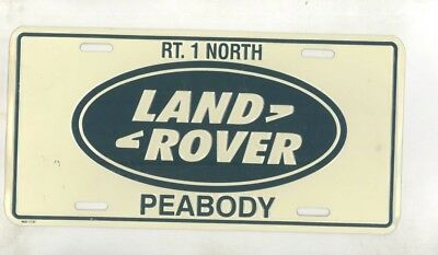 1980's ? Land Rover Rt.1 North Peabody Dealer Showroom License Plate wz6660